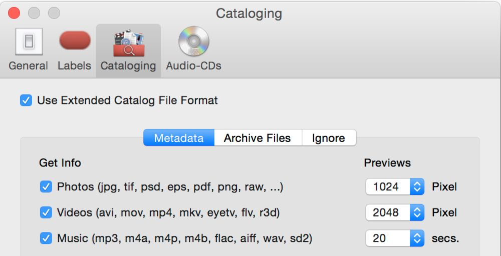 How NeoFinder catalogs your audio files!